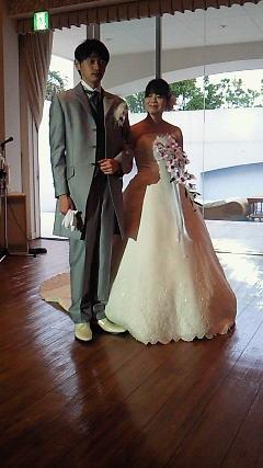 結婚式に行ってきました